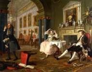 William Hogarth - Marriage A-la-Mode - 2, The Tкte а Tкte