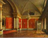 Zaryanko Sergei Konstantinovich Interiors of the Winter Palace. The Peters Small Throne Room - Hermitage