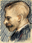 Head of a Man (Possibly Theo van Gogh)