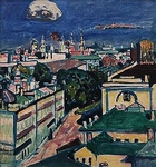 View on Moscow from the window of Kandinsky's house at the Zubovsky Square 1