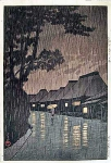 A rainy night at Maekawa in the Kanagawa prefecture
