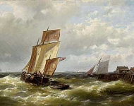 Ships before the Dutch coast