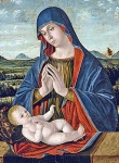 Antonello Saliba - Madonna adoring the child
