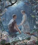 Hermia and Lysander, a midsummer night's dream