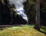 Le pave de chailly in the forest of fontainebleau