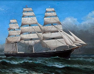 Clipper Ship Under Sail