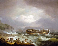 The Wreck of the East Indiaman 'Dutton' at Plymouth