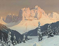 Toni Haller - The Rosengarten and St. Cyprian