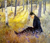 Girl Reading in the Landscape