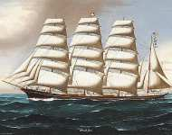 Portrait of the Four Masted Barque Annie M Reid