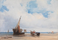 Beached Vessels and a Wagon, near Trouville