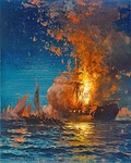 The Burning of the USS Philadelphia