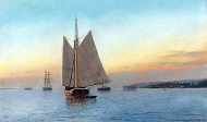 Lumber schooner in New York's lower bay