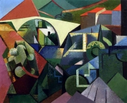Auguste Herbin - The Yellow Bridge at Ceret