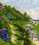 Auguste Herbin - Wooded Coast a Roche-Goyon