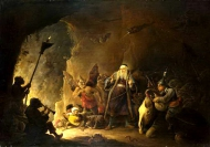 David Teniers the Younger - The Rich Man being led to Hell