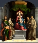Garofalo - The Madonna and Child enthroned with Saints