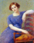Hippolyte Petitjean - Young Woman in an Armchair