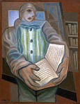 Pierrot with Book