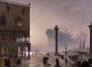 The Piazzetta di San Marco by Moonlight