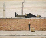 Man Lying on a Wall