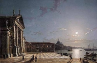 Unloading Cargo From The Grand Canal, Venice, By Moonlight