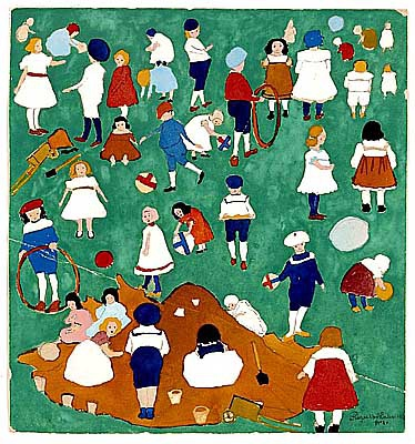 Картинки по запросу картина дети на лужайке